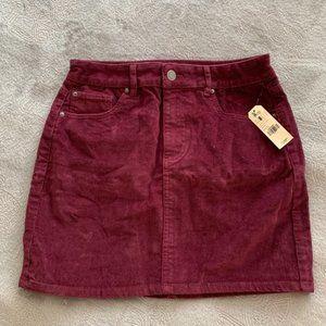 NWT Corduroy skirt wine color